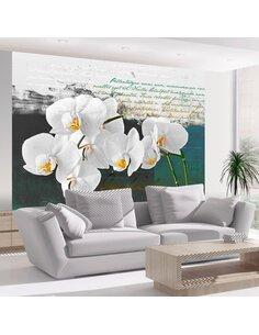 Papier Peint Orchidées Inspiration Du Poète  Orchidées Artgeist