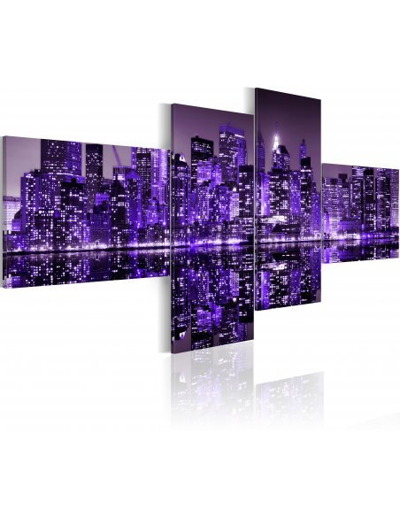 Tableau - 4 tableaux - Purple York New York Artgeist