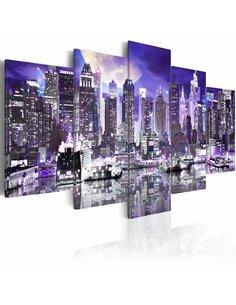 Tableau - 5 tableaux - Moonlit night in New York City New York Artgeist