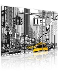 Tableau Triptyque - New York de dessin animé New York Artgeist