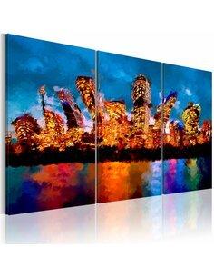 Tableau Triptyque - Mad city - triptych New York Artgeist