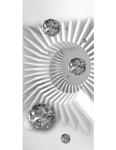Papier-peint pour porte Photo wallpaper Black and white abstraction I  Papier-peints pour porte Artgeist