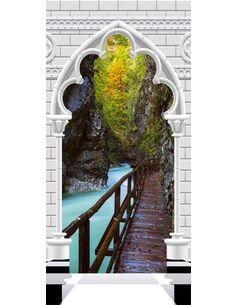 Papier-peint pour porte Photo wallpaper Arch and wooden path I  Papier-peints pour porte Artgeist