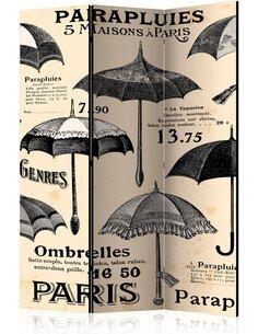 Paravent 3 volets Vintage Umbrellas  Paravents 3 volets Artgeist