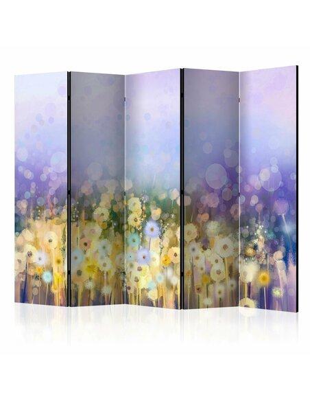 Paravent 5 volets Painted Meadow II  Paravents 5 volets Artgeist
