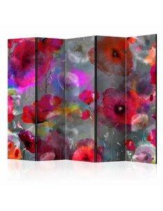 Paravent 5 volets Painted Poppies II  Paravents 5 volets Artgeist