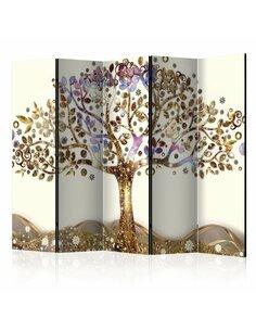 Paravent 5 volets Golden Tree II  Paravents 5 volets Artgeist