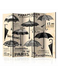 Paravent 5 volets Vintage Umbrellas II  Paravents 5 volets Artgeist