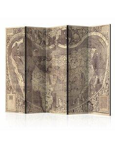 Paravent 5 volets Room divider – Map ( Amerigo Vespucci ! )  Paravents 5 volets Artgeist