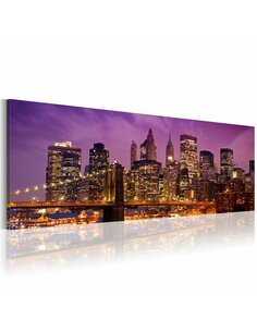 Tableau Panoramique - Canvas print - Night in New York